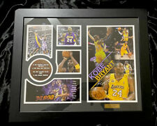 BN KOBE BRYANT FRAMED MEMORABILIA LIMITED EDITION BASKETBALL CERTIFICATE INCLUDE