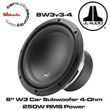 "JL Audio W3 8W3v3-4 8"" Inch 165mm 250 Watts RMS 4 Ohms Car Sub Subwoofer 8W3"