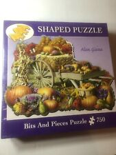 Bits and Pieces-750 Piece Shaped Jigsaw Puzzle- Fall Harvest by Alan Giana NIB