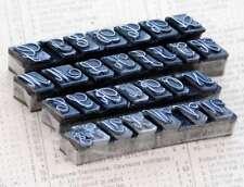 Alphabet Bleilettern Vintage Siegel Stempel Buchstabe Initial lettepress stamp.