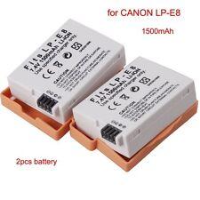 2 (Two) LP-E8 LPE8 Battery For CANON Rebel T2i T3i T4i T5i EOS 550D 650D 700D