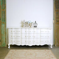 Shabby Cottage Chic 9 Drawer Dresser French Vintage Style