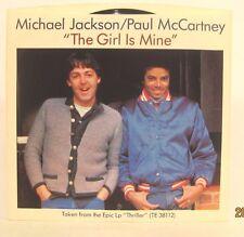 "Paul McCartney & Michael Jackson ""Girl is Mine"" 45rpm w/ PS NM unuse Store Stock"