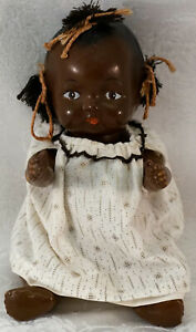 Antique Black Americana Composition Jointed Baby Doll