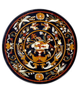 "30"" Marble coffee Table Top Pietra Dura Inlay handmade Art home decor"