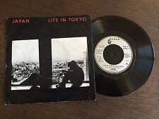 """JAPAN Life In Tokyo UK 7"""" 1982 EX/VG vinyl 45 single record Synth-pop HANSA 17"""
