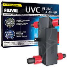 Fluval In-Line UVC Clarifier Clear Water Greenwater Fresh Marine Aquarium Tank