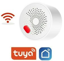 WIFI Combustible Gas Detector Alarm - Smart Life / Tuya APP Wireless UK Plug-In