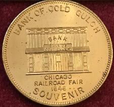 1949 BANK of GOLD GULCH Coin CHICAGO RAILROAD FAIR 32mm Token 231 LaSalle Street