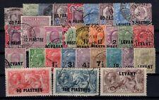 P131940/ BRITISH LEVANT / LOT 1885 - 1921 USED - CV 365 $