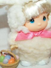 Vintage 1989 Enesco Precious Moments 'Hi Babies' Doll w/ Easter Outfit & Basket