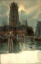 Dordrecht Niederlande Nederland Südholland AK ~1910 Gemälde Zeichnung Hlassiers