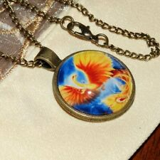 New Phoenix Creature, Pendant Necklace, Flying Mythical Bird, Greek Mythology