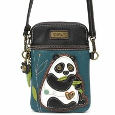 Chala Cell Phone Crossbody Bag Panda Bear Convertible Strap Turquoise Blue New