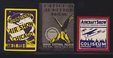 US 3 Vintage Aviation & Air Show Chicago and New York Cinderella Stamps (L39)