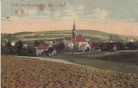 uralte AK Reinsdorf bei Zwickau in Sachsen Teilansicht Kirche 1917  //82