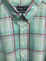 🏇👔Ralph Lauren Men's Short Sleeve Casual Shirt 3XLT Tall Plaid🏇👔