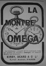 PUBLICITÉ DE PRESSE 1905 LA MONTRE OMEGA DE PRÉCISION KIRBY BEARD - ADVERTISING