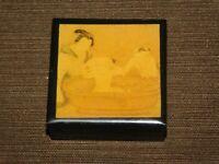 "VINTAGE 2 1/8"" X 2 1/8"" JAPANESE CHILD IN OLD BATH TUB PLASTIC TRINKET BOX"