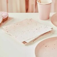 birthday Napkins Pink Ombre Rose Gold Blush Party Decoration Milestone sparkle