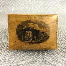 Mauchline Ware Box Antique Victorian Wooden Archway St Leonard's Treen