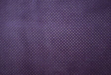BARKERS LEATHERCRAFT HIDE & SKINS Perforated suede calfskin leather Purple H267S