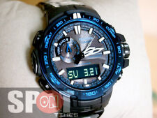 Casio ProTrek Atomic Solar Triple Sensor Black Titanium Watch PRW-6000SYT-1A