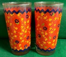 Vintage Floral Drinking Glasses