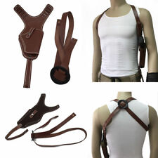 Tactical Leather Underarm Shoulder HandGun Holster AdjustConcealed Armpit Pistol