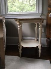 Domain furniture - Aurielle Bedroom Round  Side Table w/ Glass Top