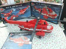 RARE BUILT MEGA BLOKS PRO-BUILDER COLLECTOR SERIES - Sea Rescue. 710 PCS, 9741