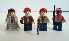 SUPERNATURAL Dean, Sam Winchester, Castiel, & Bobby Singer Figures lot of 4 NEW