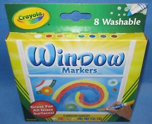 an 8 Pack of Crayola Washable Window Markers