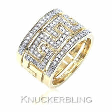 9 Carat Yellow Gold Round Fine Diamond Rings