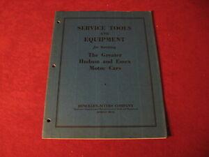 1932 Hudson Essex Service Tools Sales Brochure old Catalog Booklet Book Original