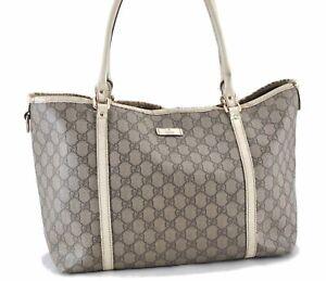 Authentic GUCCI Shoulder Tote Bag GG PVC Leather 197953 Brown E0770