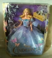 Disney Cinderella Royal Ball Doll Live Action Movie Figure Blue BUTTERFLY Dress