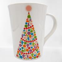 Room Creative BRIGHT TREE Christmas Mug Tall Cup 2013 Signature Housewares