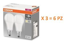 SET DA 6 PZ. LAMPADINA LED OSRAM  E27 13W  = 100W LUCE CALDA 2700K GOCCIA