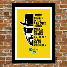 BREAKING BAD QUOTE - FRAMED WALL ART PRINT POSTER!