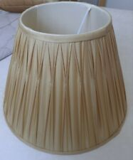 Pair Of Laura Ashley Pleated Gold Lampshades