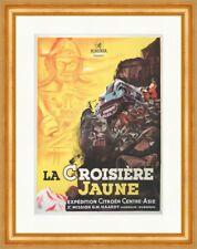 La Croisiere Jaune Minerva Belgien Krieger Kunstdruck Plakatwelt 084 Gerahmt
