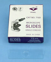 72 SINGLE CONCAVE 1 WELL MICROSCOPE SLIDES
