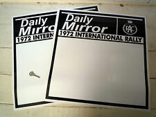 RAC RALLY DAILY MIRROR LARGE DOOR PANEL car stickers