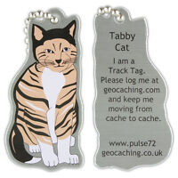 Tabby Cat Track Tag For Geocaching (Travel Bug Geocoin)