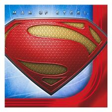SUPERMAN MAN OF STEEL~(16) Small Beverage or Cake size Napkins~ Birthday Party