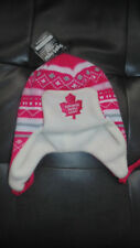 Toronto Maple Leafs Girls Baby  Child Old Time Hockey Hat Cap Tuque New  Winter