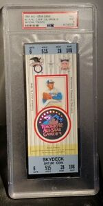 1991 MLB All Star Game Full Ticket SkyDome Toronto PSA 9 MT POP 7 Cal Ripken MVP