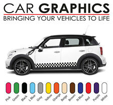 Mini auto grafik schachbrettmuster aufkleber sticker cooper vinyl design mn8