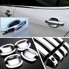 Chrome Door Handle Bowl Cover Cup Overlay Trim Moulding For Peugeot 308 #HC76